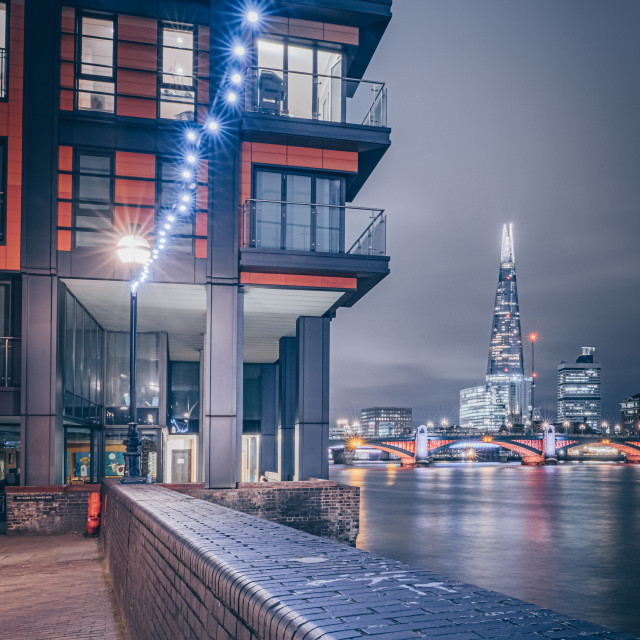 """Walking to the Shard"" stock image"