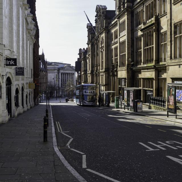 """""""Coronavirus Lockdown Nottingham,UK."""" stock image"""