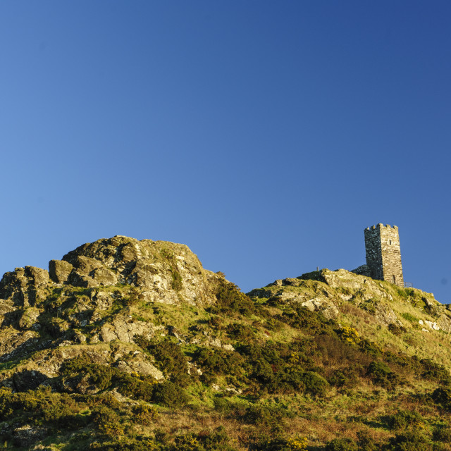 """""""Brentor and its church, Dartmoor"""" stock image"""