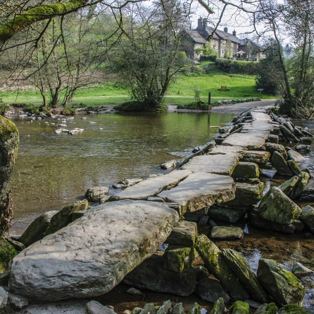 """Tarr Steps, Exmoor"" stock image"