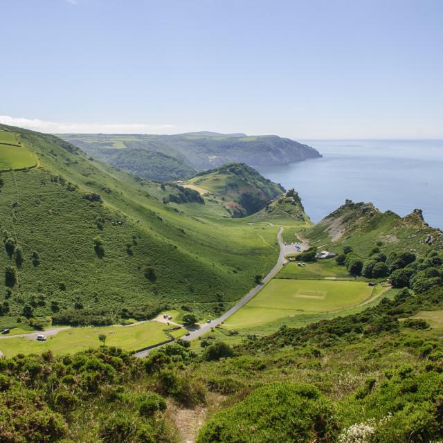 """Valley of Rocks, Devon"" stock image"