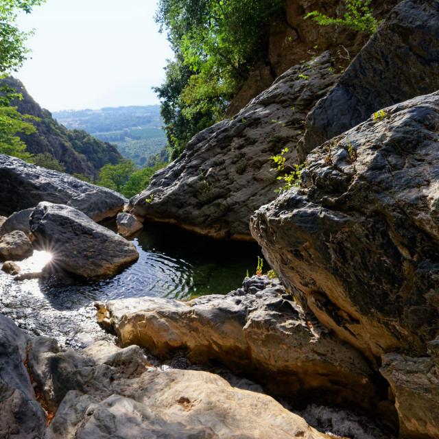 """Bucatoggio canyon"" stock image"
