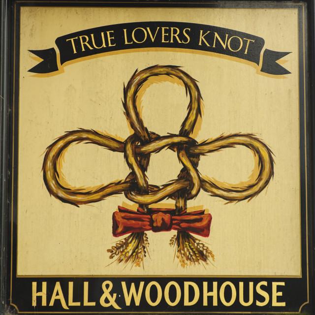 """""""True Lover's Knot inn sign"""" stock image"""
