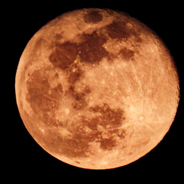 """Pink Super Moon"" stock image"