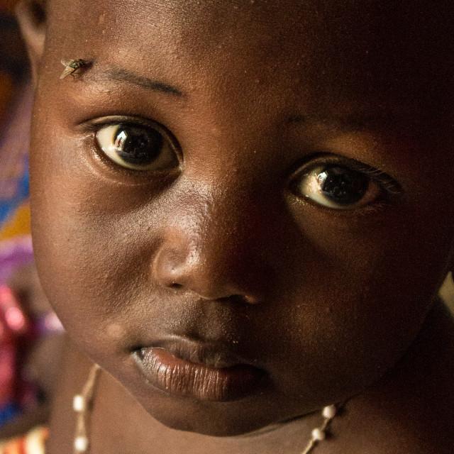 """""""Girl in a village in Mali"""" stock image"""