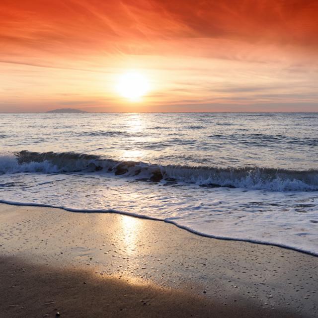 """Elba sunrise"" stock image"
