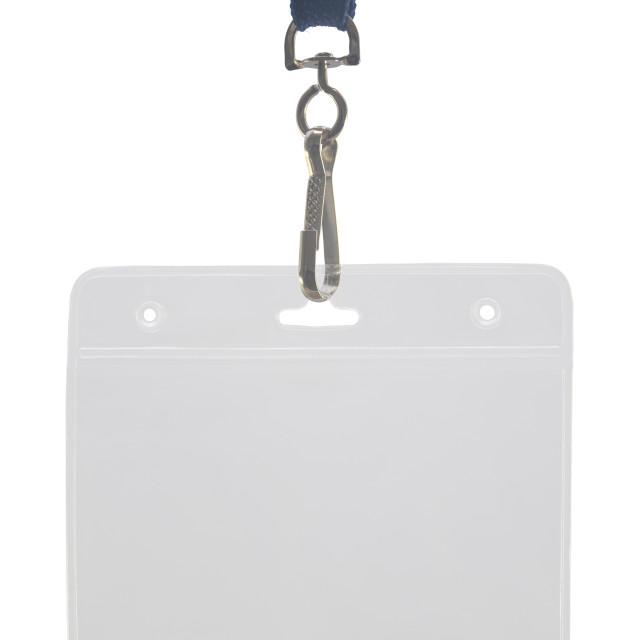 """Lanyard And Plastic ID Holder"" stock image"