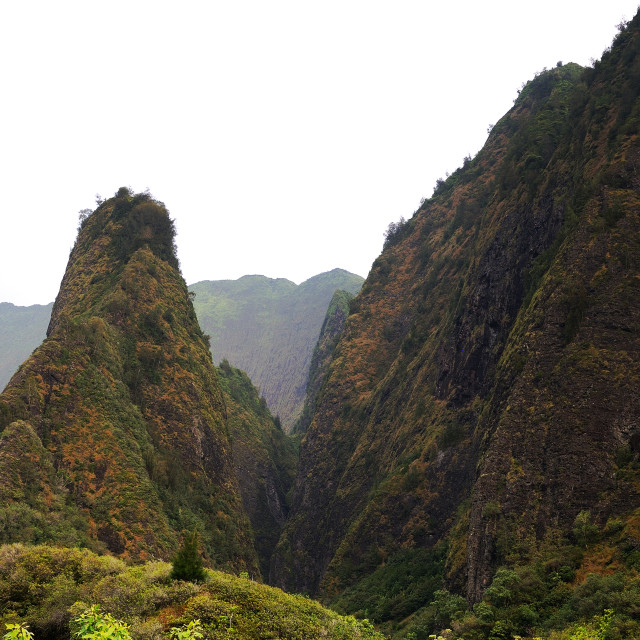 """Iao peak"" stock image"