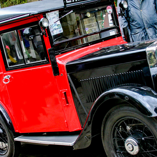 """Transport at the Haworth 1940's Weekend, Classic Morris Minor Royal Mail Van,"" stock image"