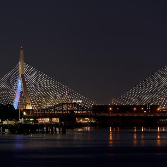 """Zakim Bridge"" stock image"