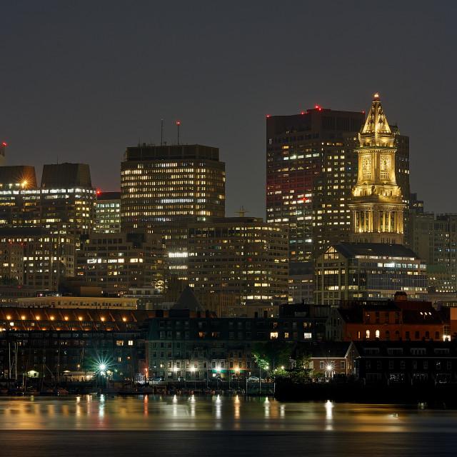 """Boston at Night"" stock image"