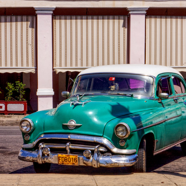"""""""Old American car"""" stock image"""