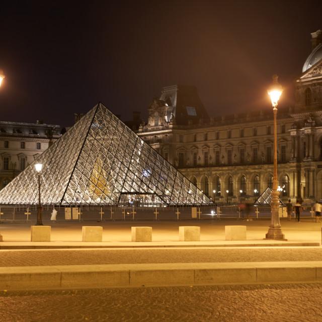 """Pyramid under lights"" stock image"