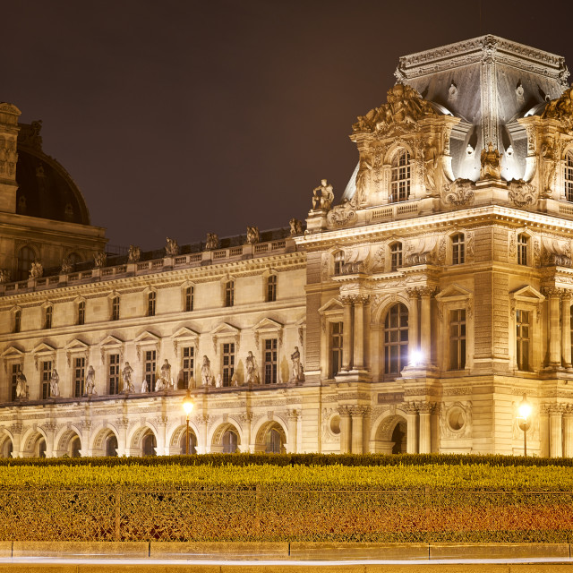 """""""Louvre at Night"""" stock image"""