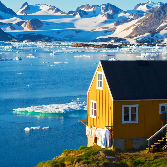 """Home in Kulusuk, Greenland"" stock image"