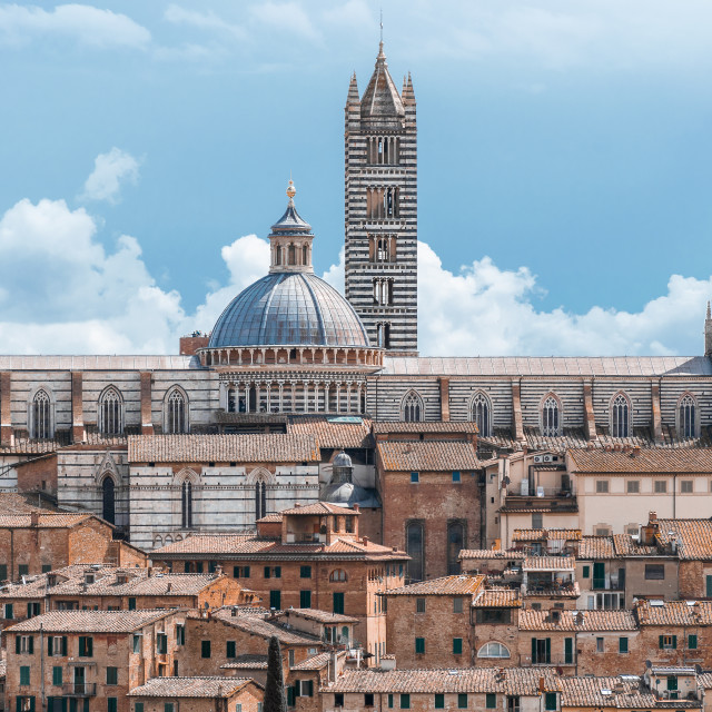"""Siena Cityscape"" stock image"