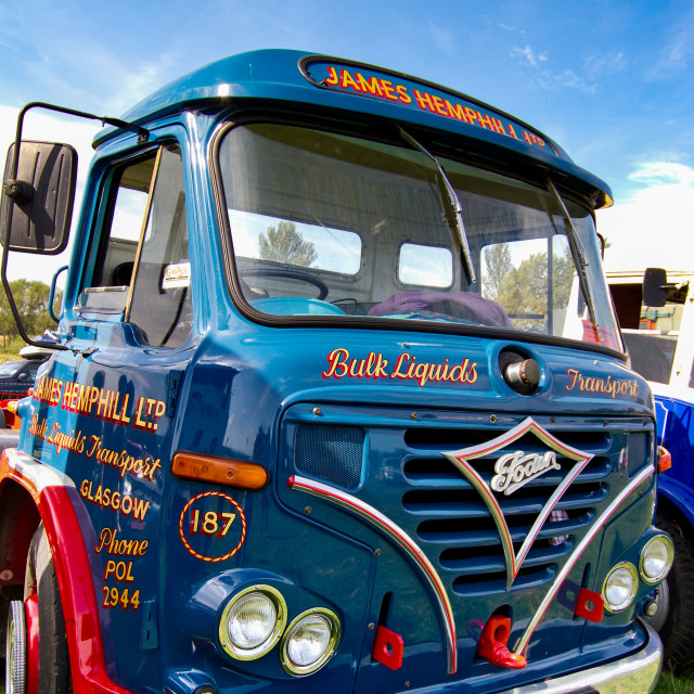 """""""Foden Truck on display at Otley 2012 Vintage Transport Extravaganza"""" stock image"""