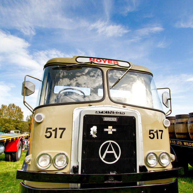 """Atkinson Borderer Truck on display at Otley 2012 Vintage Transport Extravaganza"" stock image"
