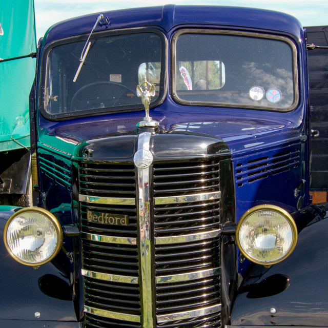 """""""Bedford Truck on display at Otley 2012 Vintage Transport Extravaganza"""" stock image"""