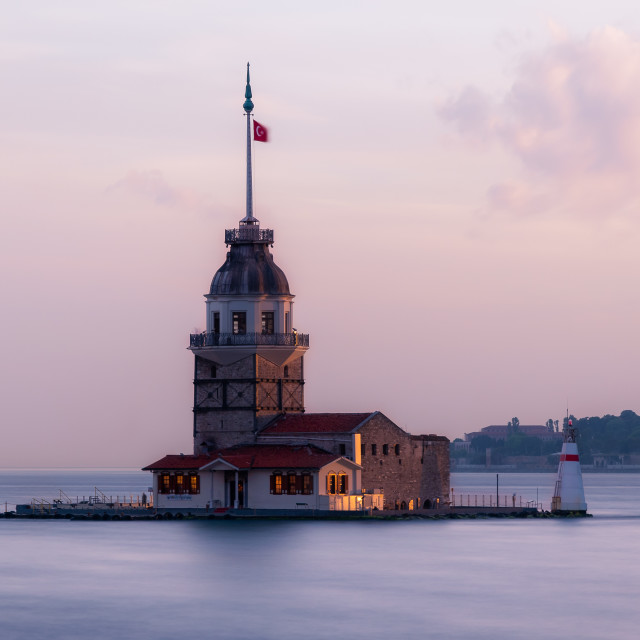 """Maiden's Tower in Istanbul"" stock image"