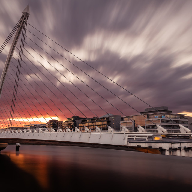 """Samuel Beckett Bridge"" stock image"