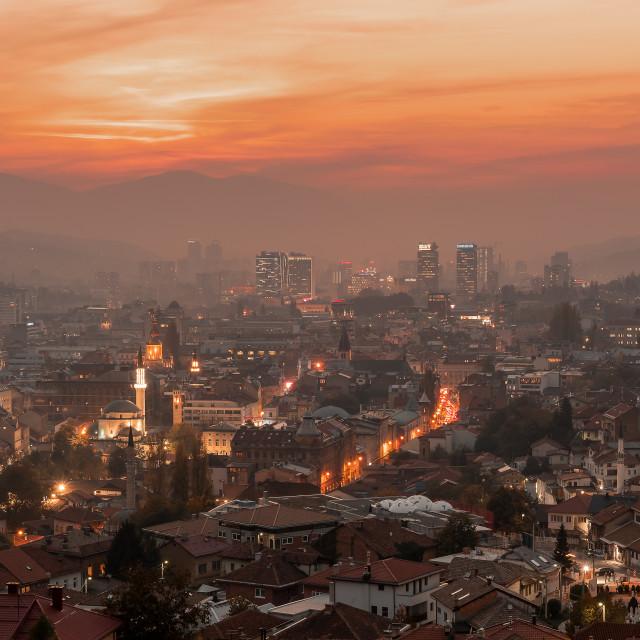 """""""Sarajevo Cityscape"""" stock image"""