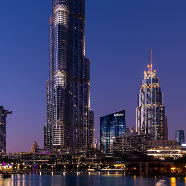 """Dubai Skyscrapers"" stock image"