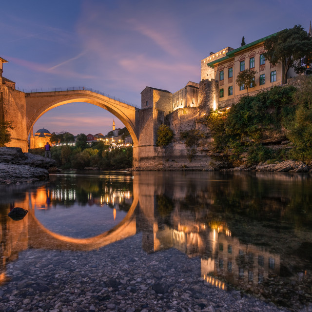 """Mostar's Old Bridge"" stock image"