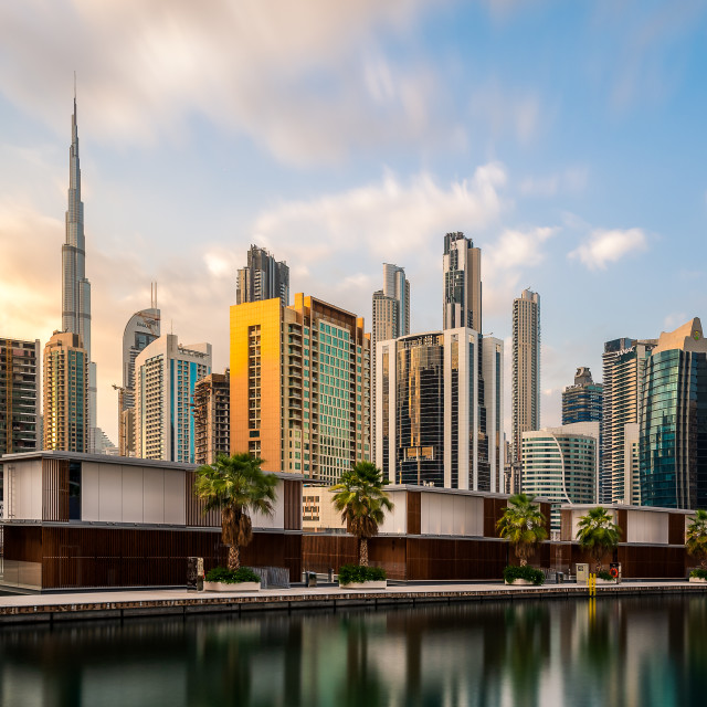 """Dubai's Business Bay"" stock image"
