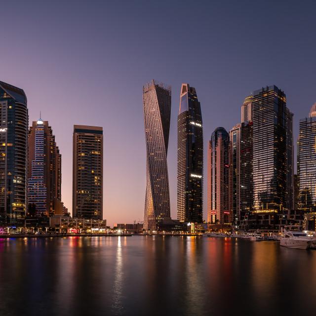 """Dubai Marina Skyscrapers"" stock image"