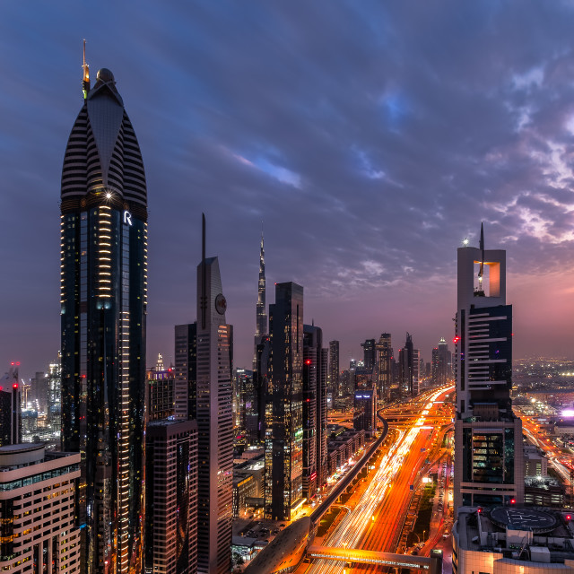 """Downtown Dubai"" stock image"