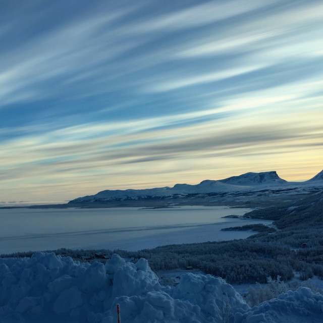 """""""Arctic Clouds over Lapporten"""" stock image"""