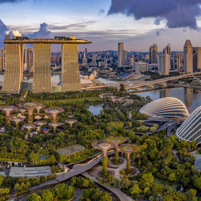 """""""Singapore Skyline"""" stock image"""