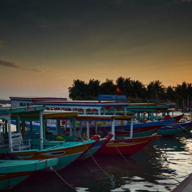 """""""Sunset over Hội An harbour"""" stock image"""
