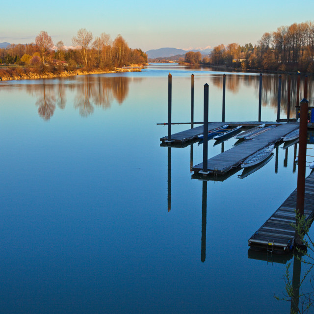 """""""Serenity on the Fraser"""" stock image"""