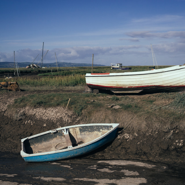 """""""Boats on the Dee"""" stock image"""