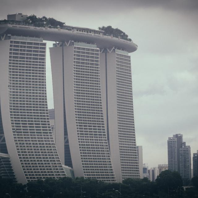 """""""Marina Sands Bay Hotel, Singapore"""" stock image"""