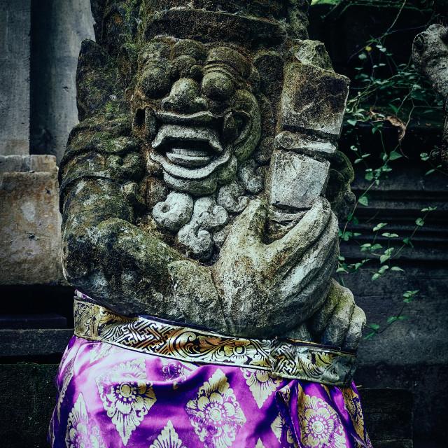 """Statue, Ubud, Bali"" stock image"