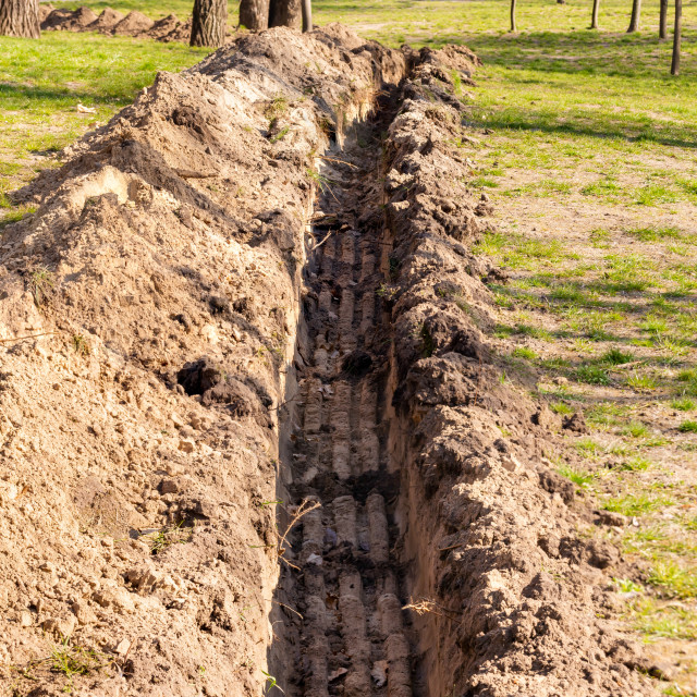 """Trench in the Ground"" stock image"