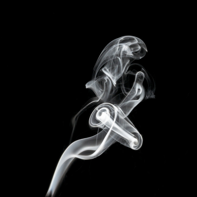 """playing with smoke"" stock image"