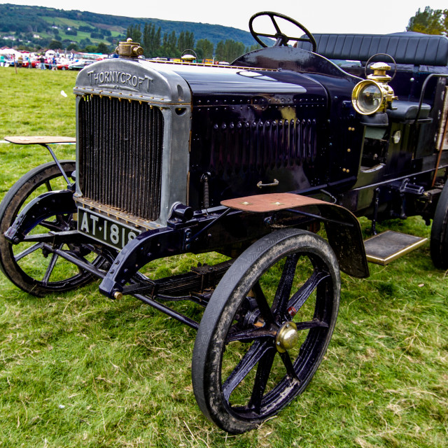 """Thornycroft Wagon on display at Otley 2012 Vintage Transport Extravaganza"" stock image"