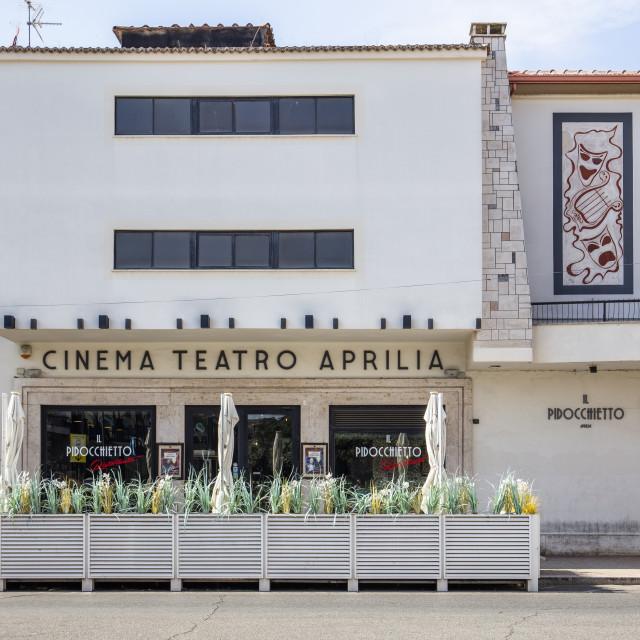 """Cinema Tetaro Aprilia, Aprilia, Latina, Lazio, Italy"" stock image"