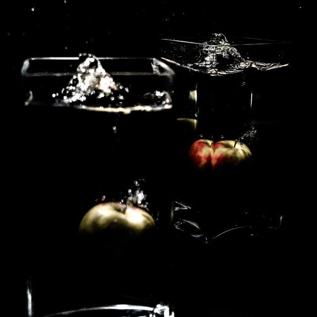 """Eat an Apple"" stock image"