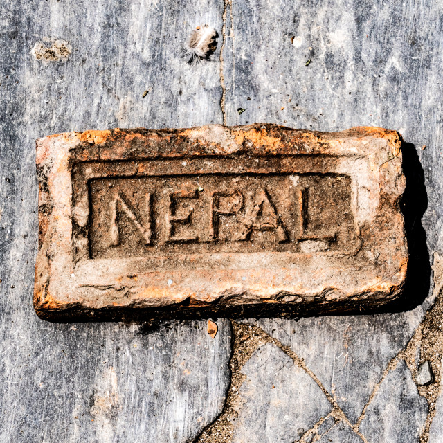 """Made in Nepal"" stock image"