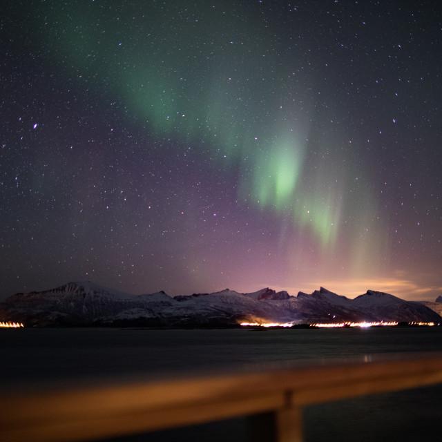 """Senja Light"" stock image"