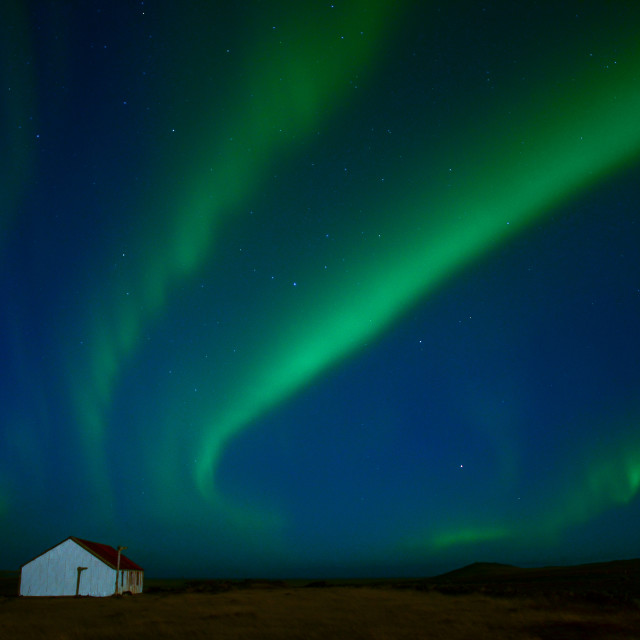 """Northern Lights at Hofsnes"" stock image"