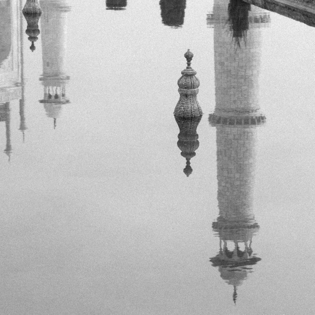 """Taj Mahal's minaret"" stock image"