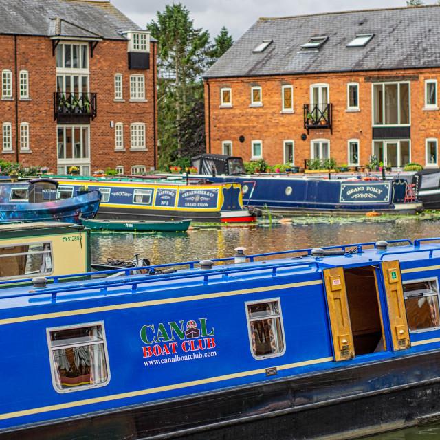 """""""Market Harborough Union Wharf, Leicestershire, UK"""" stock image"""