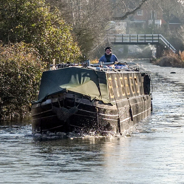 """""""The Market Harborough arm of the Grand Union Canal"""" stock image"""