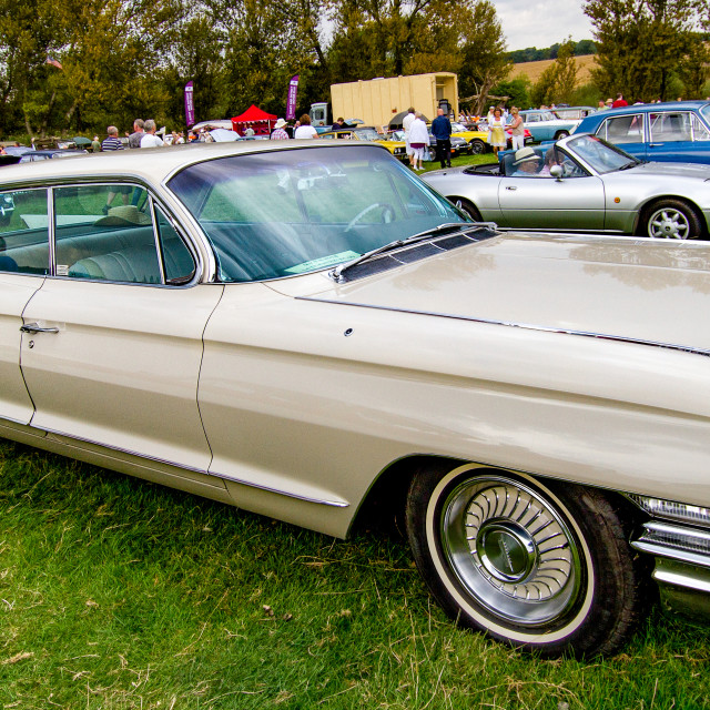"""1962 Cadillac Series 62 on display at 2012 Vintage Transport Extravaganza"" stock image"